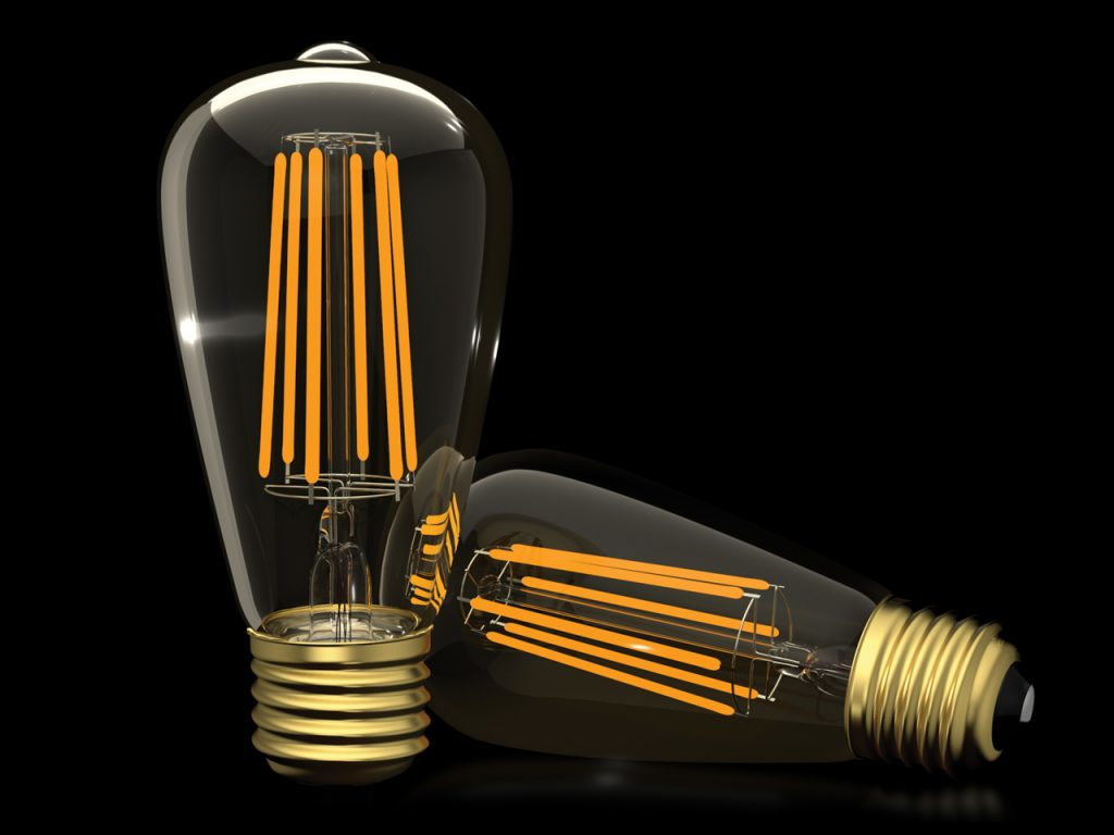 led dimmable filament bulbs brightman led limited. Black Bedroom Furniture Sets. Home Design Ideas